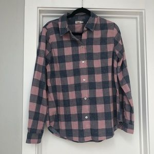Faherty plaid checkered button up shirt